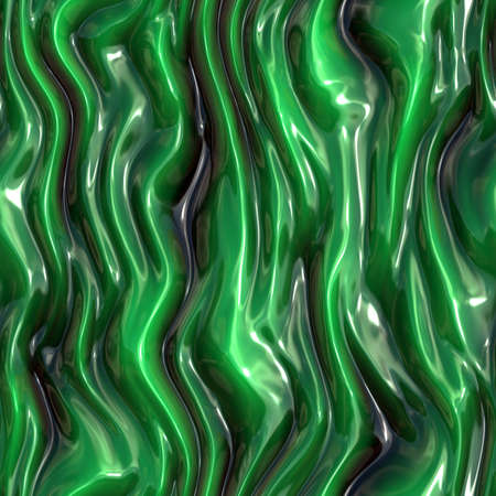 Seamless green slime. Green wave surface metal or plastic. Stockfoto