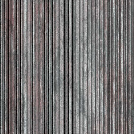 Rusty corrugated metal sheet. Texture of metal fence or covering. Seamless background.