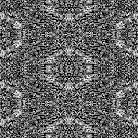 Black and white geometric pattern. Seamless texture or background.