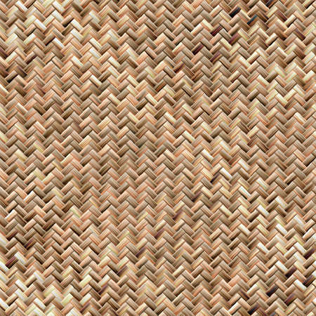 Seamless texture of basket surface. Bamboo texture. Beige pattern background.