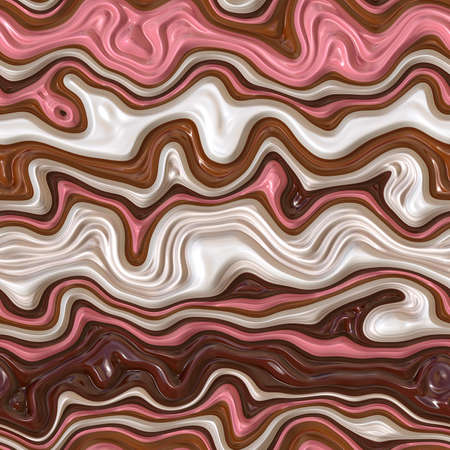 Candy background. Seamless candy wave. Melted chocolate and caramel. Colorful background or texture.