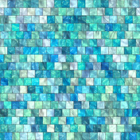 Blue glass mosaic. Colorful glass. Seamless texture or background.