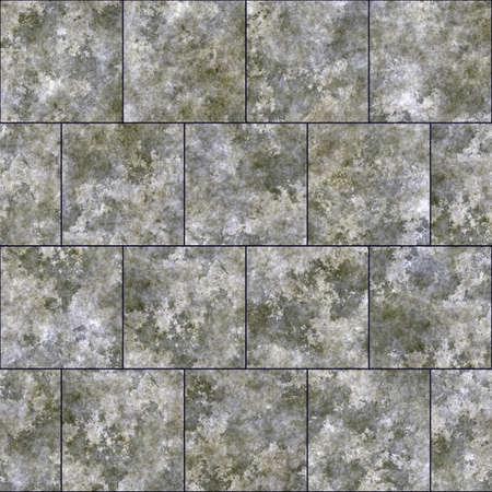 Seamless texture of gray tiles. Concrete tiles background. Stockfoto