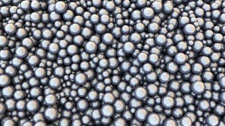 Metallic chrome spheres. Steel balls. Abstract background. 3d rendering illustration. High resolution.