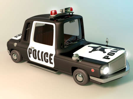 flashers: Police car