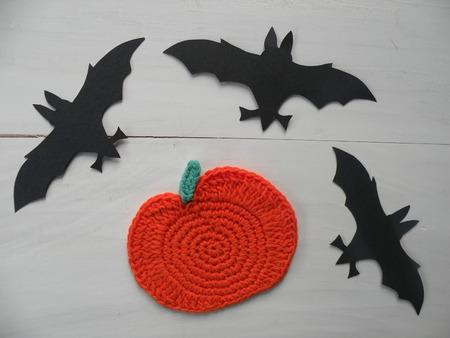 pumpink crocheted and bats