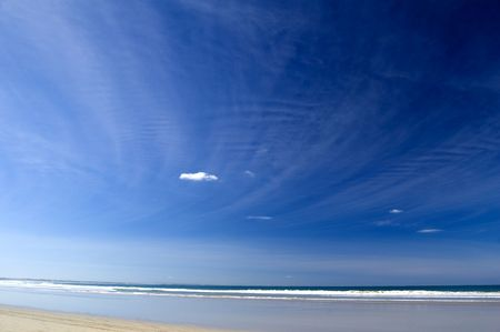 colorized: background of blue sky at beach scene