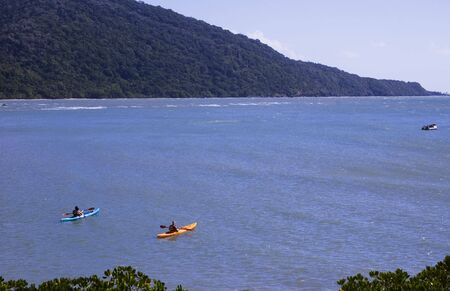 tribulation: kayaking on the ocean at Cape Tribulation