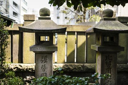 Shinto shrine in Tokyo, Japan, neighbourhood of Asakusa