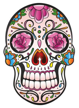 Mexican Sugar Skull Illustration
