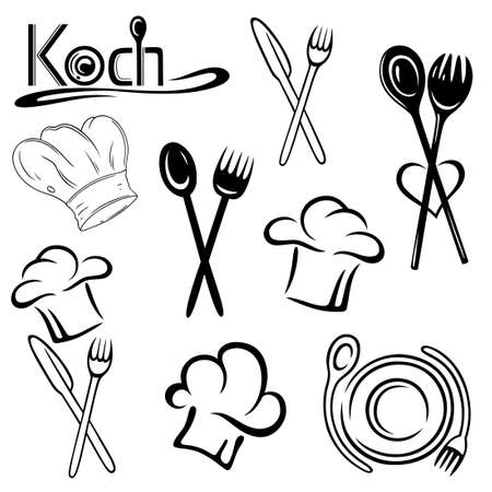 Gastronomie Vector Set Illustration