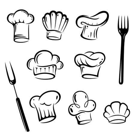 Vector Set von Kochmützen Illustration