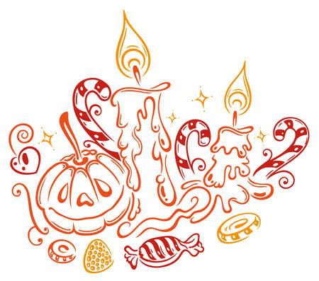 Trick or treat, halloween vector Stock Vector - 21607309