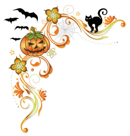 Colorful halloween tendril Stock Vector - 21607310