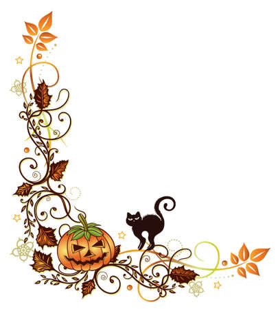 sanction: Halloween vine leaves Illustration
