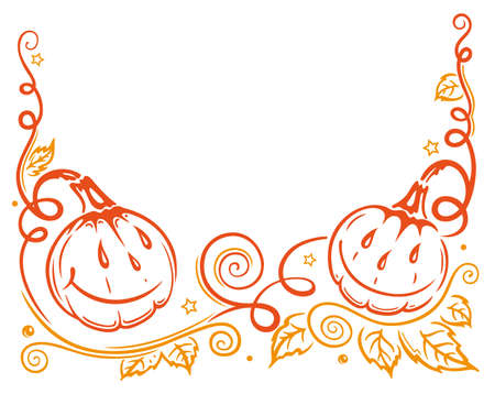 sanction: Halloween pumpkin frame Illustration