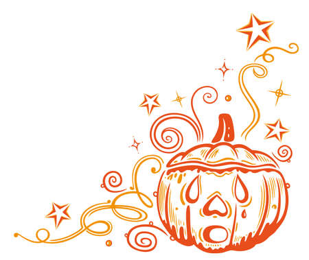 Colorful halloween pumpkin Stock Vector - 21607319