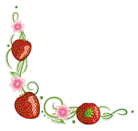tendrils: Strawberry tendril with flowers