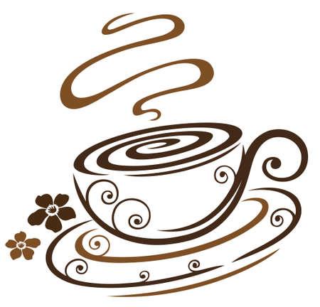 Kaffeetasse mit Blumen