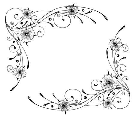 nasturtium: Filigree, abstract frame, nasturtium