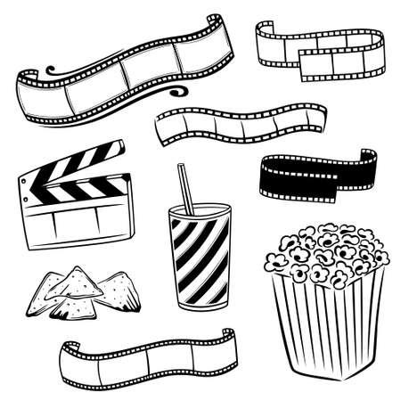 comedic: Cinema, movie, tv, film  vector set