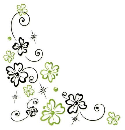 sylvester: Colorful clover tendril, sylvester decoration