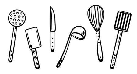 kitchen utensils: Utensilios de cocina, cocina