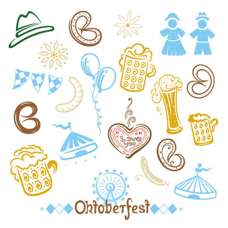 german beer: Oktoberfest  design elements