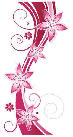 Bunte Blumen, Sommer, abstrakt, rosa