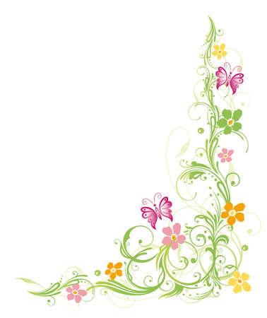 Bunte Blumen, Frühling, Pastell Illustration
