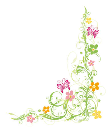 Colorful flowers, spring, pastel
