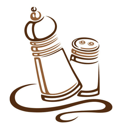 Salt and pepper shaker Vector