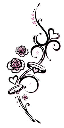 Black, pink vector series, valentines day Stock Vector - 21684012