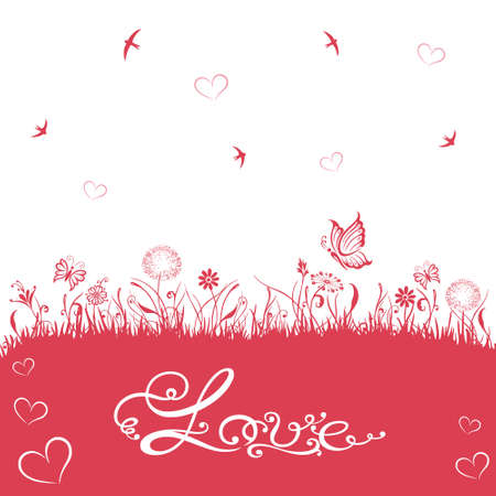 Silhouettes background for Valentines Day Stock Vector - 21684014
