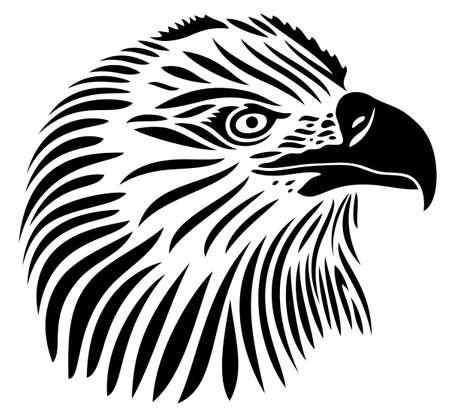 Eagle head, tribal style