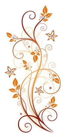 Orange Ranke, Herbst Illustration