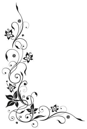 Floral element, black art