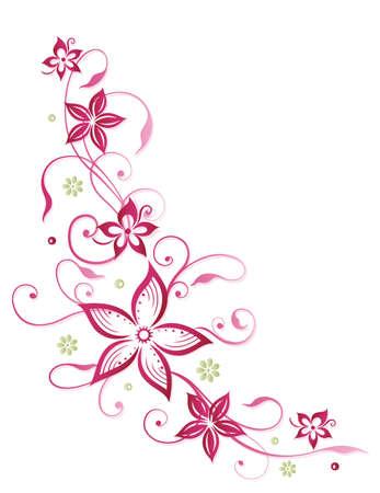 Ranke in rosa und grün