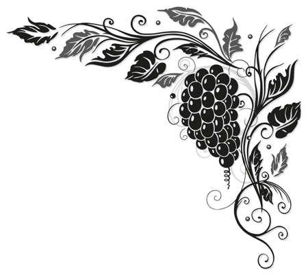 Weinblätter mit Trauben