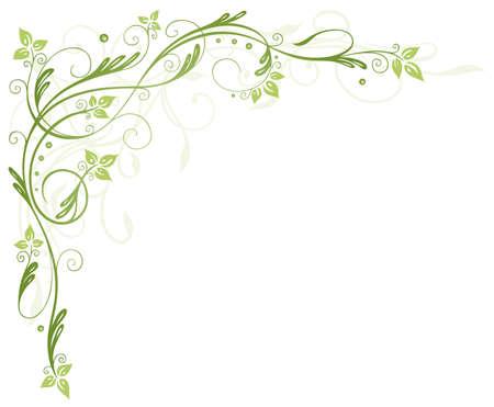 Grüne Ranke mit Blättern, Frühlingszeit