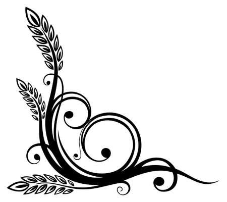 Abstract pretzel decoration, vector design element