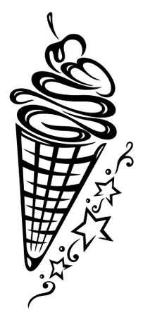 parlours: Ice cream illustration, summer time Illustration