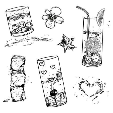 cubos de hielo: Cubos de hielo y refrescos