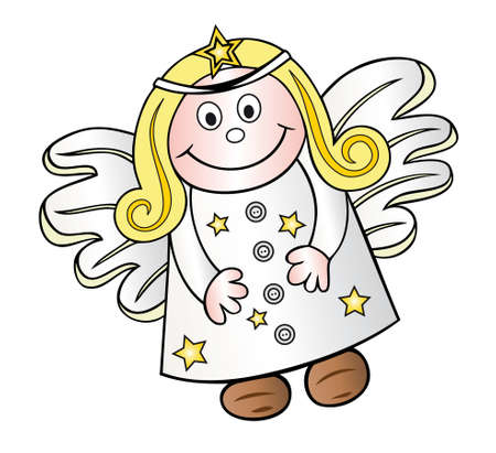 guardian angel: Beautiful christmas angel, guardian angel