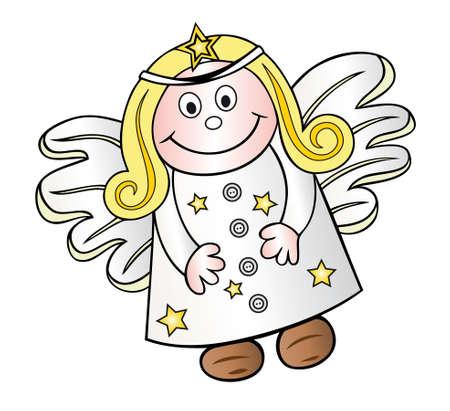 angel de la guarda: Hermosa navidad del �ngel, �ngel de la guarda Vectores