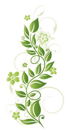 Grüne Blumen, bunten Frühlingszeit