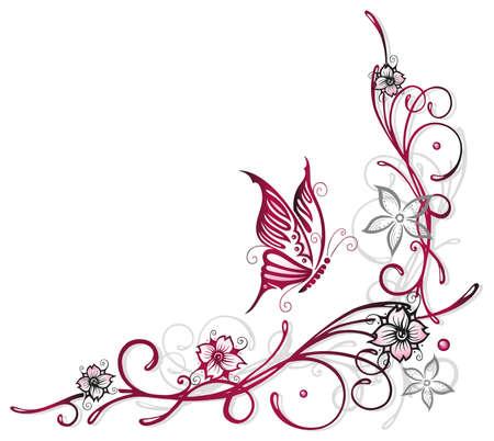 Blumenelement, Kirschblüten, Frühling Illustration