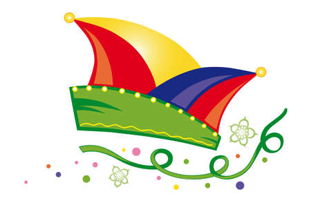 dunce cap: Colorful carnival decoration, dunce cap