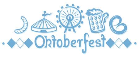 Party Dekoration auf oktoberfest, Design-Elemente