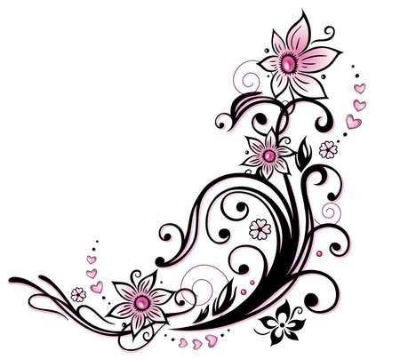 Bunte Blumenschmuck, Tribal und Tattoo-Stil
